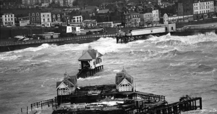 Margate Pier in a Storm