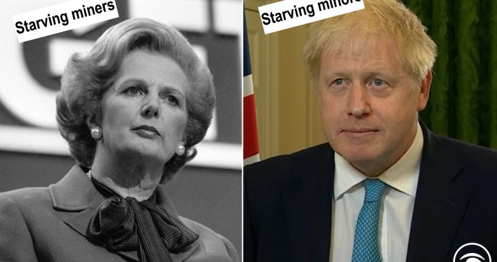 Margaret Thatcher and Boris Johnson