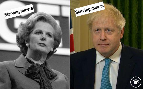 Margaret Thatcher and Boris Johnson