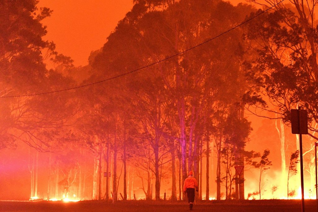 Image show they world on fire