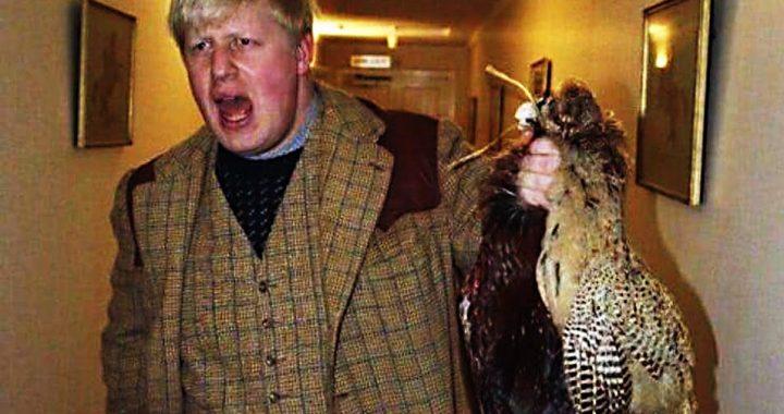 Prime Minister Boris Johnson with a brace of pheasant