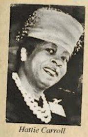 Hattie Carrol, black woman murdered by William Zantzinger