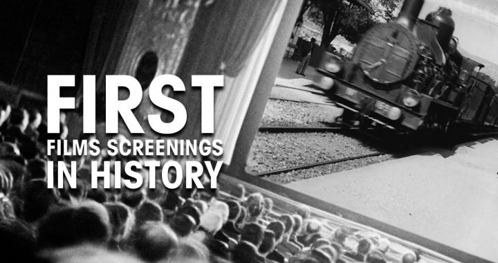 Image shows moving train in the first moving picture ever