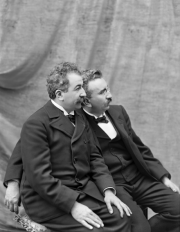 Photo shows the French Lumiere Brothers