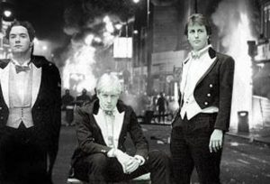 George Osborne, Boris Johnson and David Cameron dressed in Bullingdon Club tailcoats.
