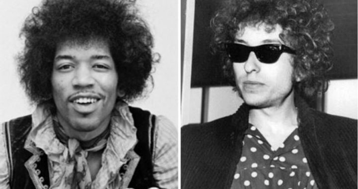 Jimi Hendrix and Bob Dylan contemplating the idea that there must be some kind of way out of here