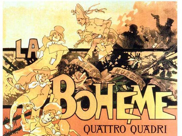 Poetic License and La Bohème - poster from the opera