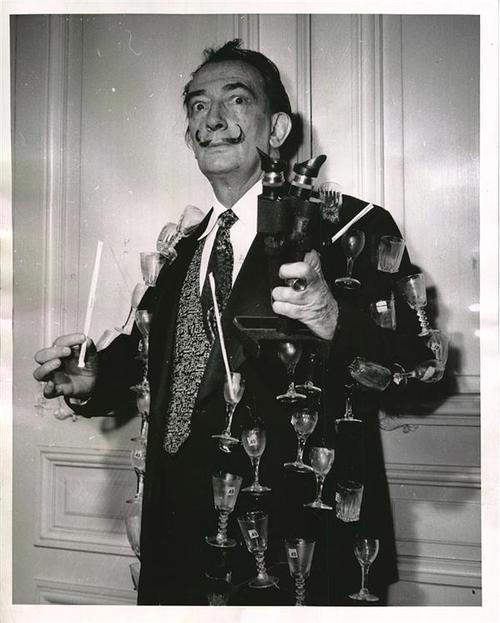 Salvador Dali in his Spanish Fly jacket